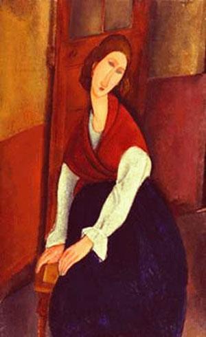jeanne-hebuterne-devant-une-porte-1919