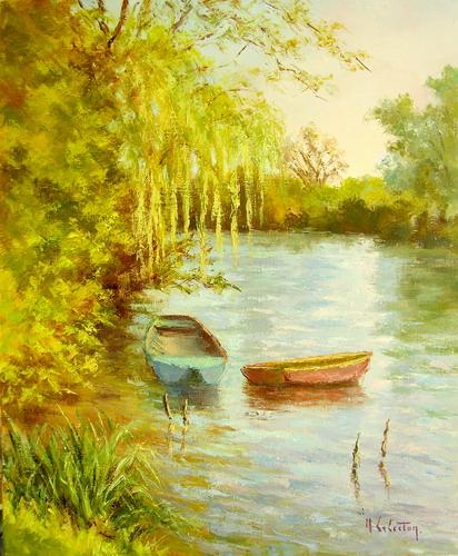 Pressagny, les 2 barques