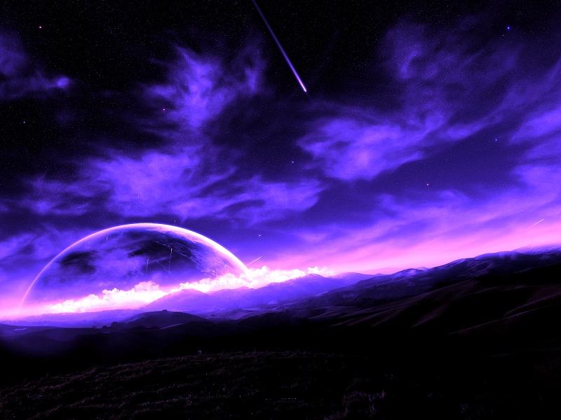 purple-starlit-night-ciels-nuages-nature