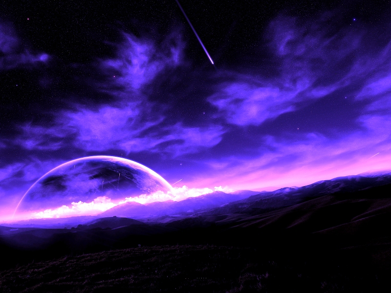 purple-starlit-night-ciels-nuages-nature
