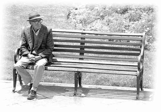 vieil homme banc
