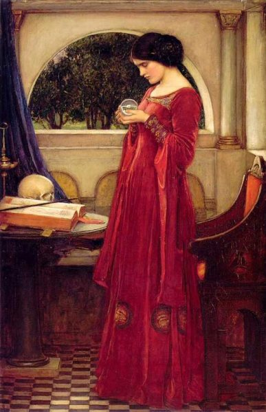 waterhouse_the_crystal_ball_skull