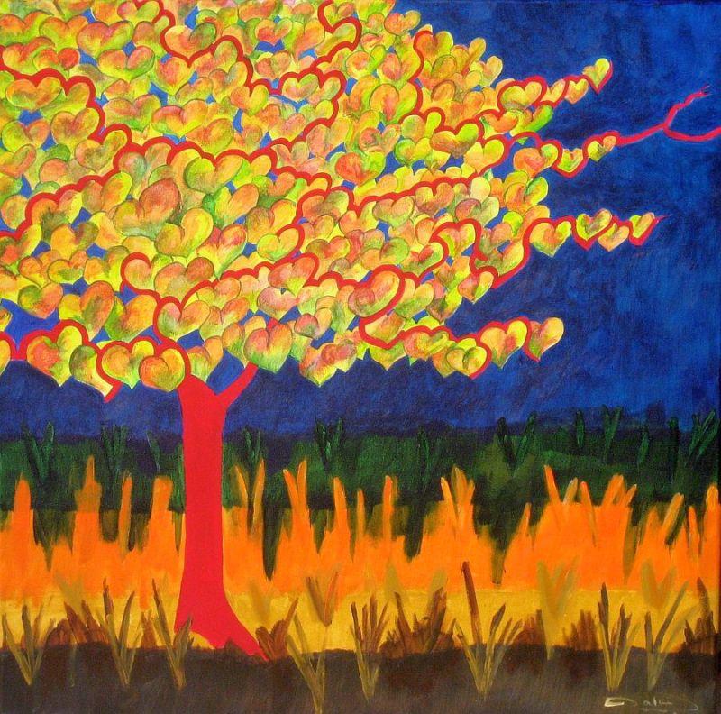 Automne de l'arbre aux coeurs