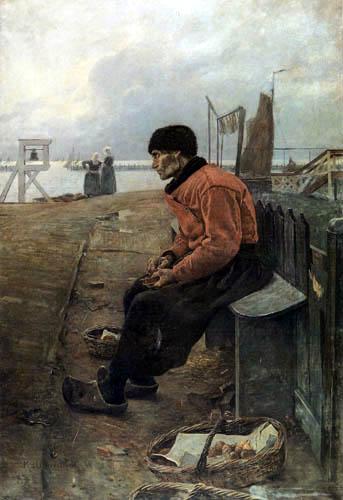 Graf Leopold von Kalckreuth - Un vieux pêcheur