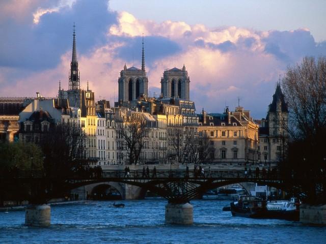 The River Seine_ Paris_ France