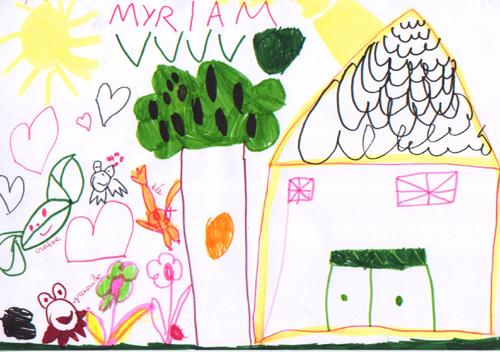 Maison de craie jean joubert arbrealettres - Dessin maison enfant ...