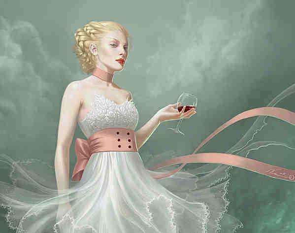 jeune femme verre de vin