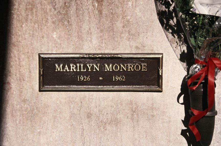 La tombe de Marilyn Monroe. Lib. Retna.