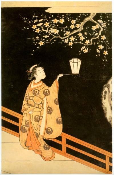 Ukiyo-e Harunobu  jeune fille