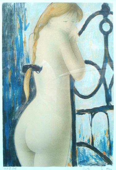 Alain Bonnefoit Lydia-a-la-natte-litho-156-175-37x53cm-500