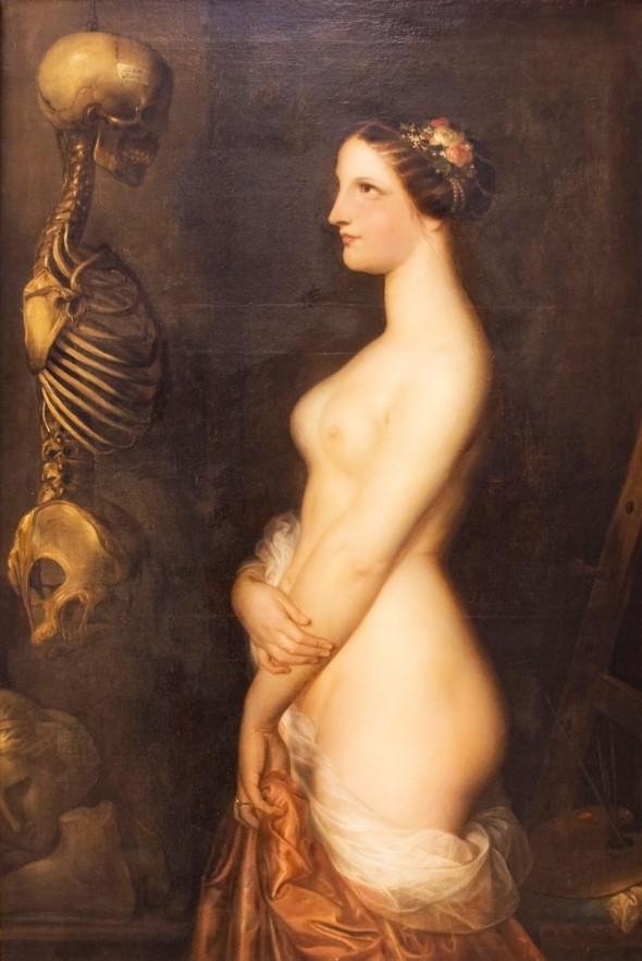 Antoine Wiertz   Deux-jeunes-filles-La-Belle-Rosine-1847-Antoine-Wiertz