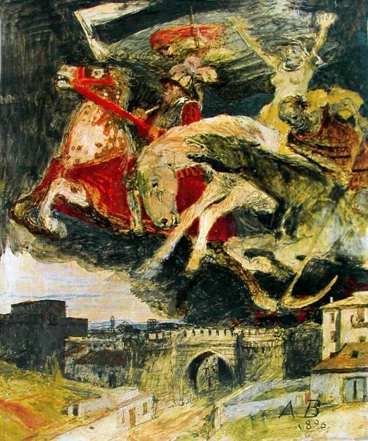 Arnold Böcklin La Guerre