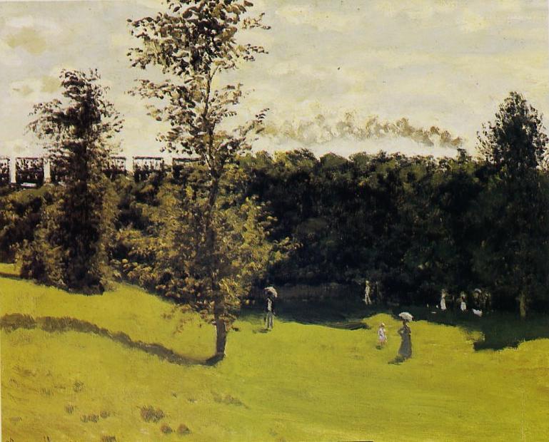 Claude Monet_train campagne