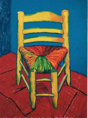 David Hockney -VanGoghChair1988