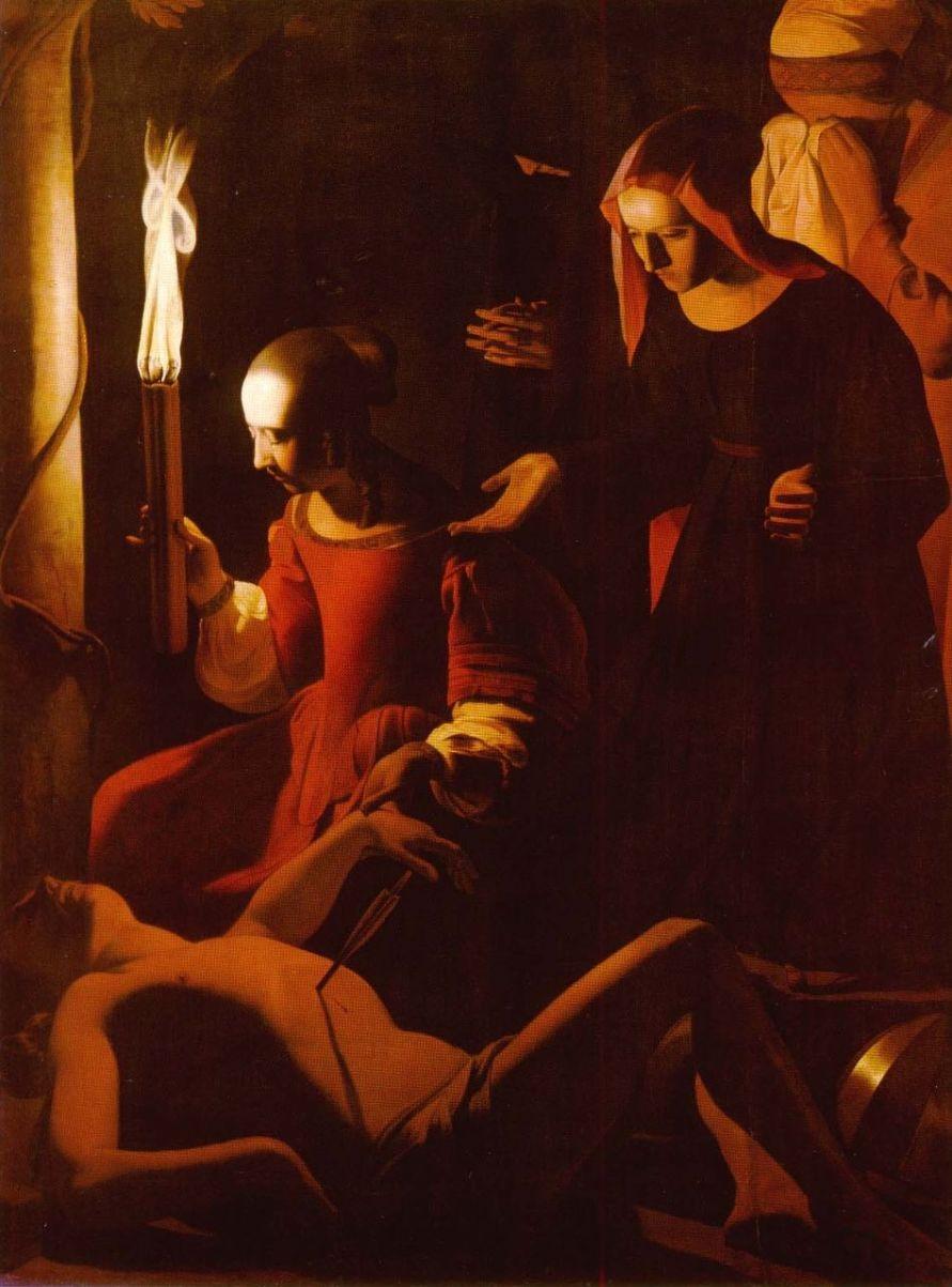 Georges de la Tour (1593- 1652) Sainte Irène soignant Saint Sébastien