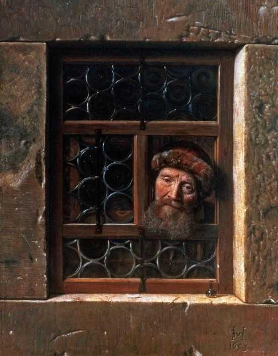 Samuel Van Hoogstraten_ l'homme à sa fenêtre