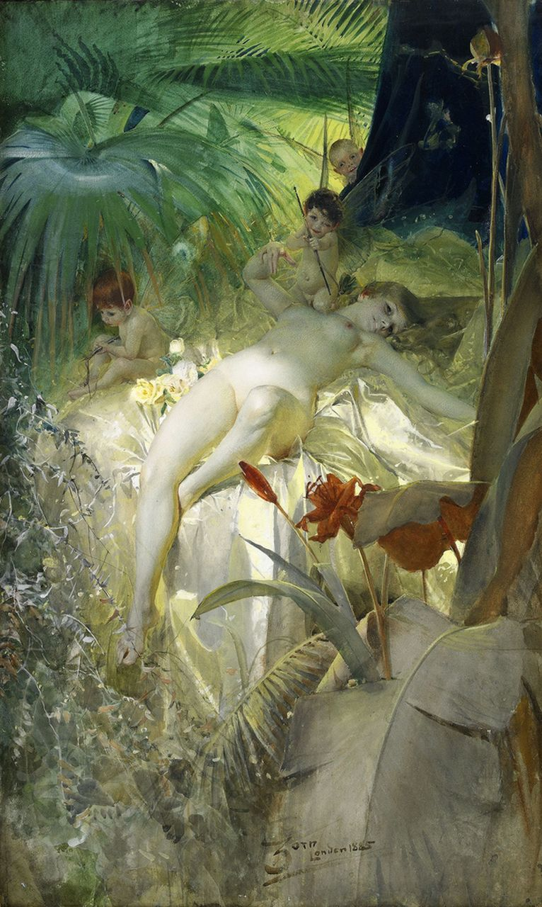 Anders Zorn La-Nymphe-Amour-1885-Anders-Zorn