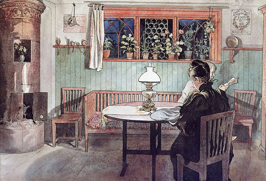 Carl Larsson when-the-children-have-gone-to-bed(1)
