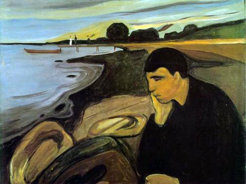 Edvard Munch - Melancholía,   00