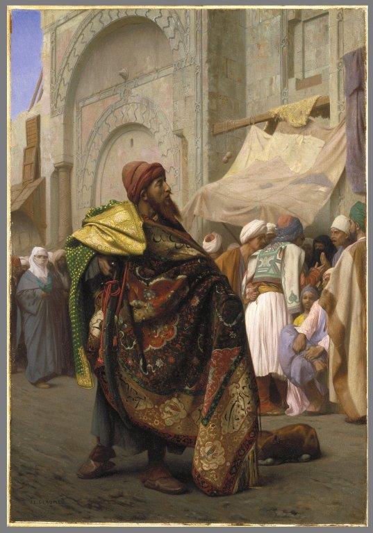 Jean-Leon Gerome  the-carpet-merchant-of-cairo
