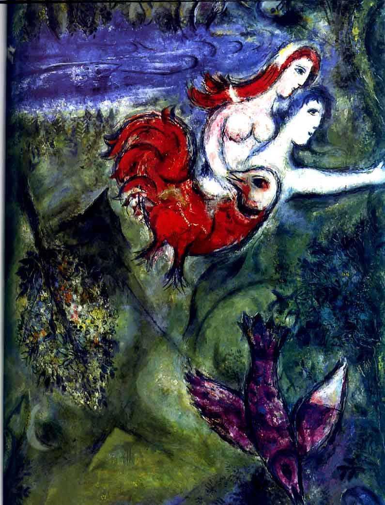 Marc Chagall  Adam et Eve chassés du Paradis     l