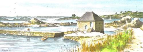 Moulin a maree sur l'Ile de Brehat