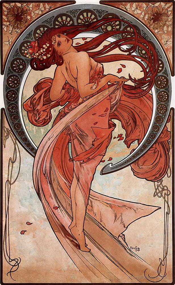 Alphonse Mucha Dance 1898 38x60cm