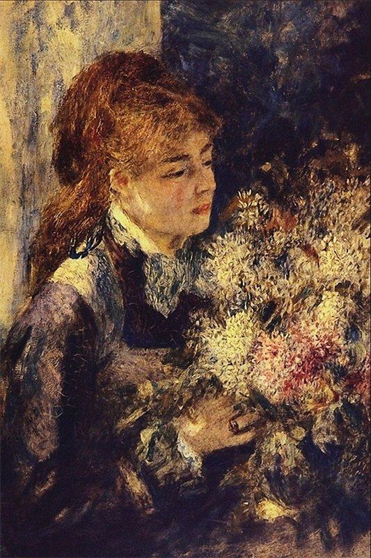 Auguste Renoir la femme aux lilas