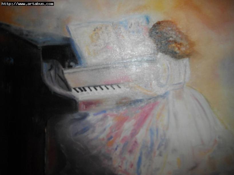 Claude-Zélie Girardin Jeune fille au piano 9