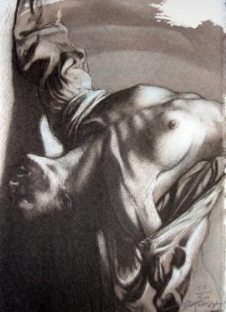 Ernest Pignon-Ernest  corps d'extase_400
