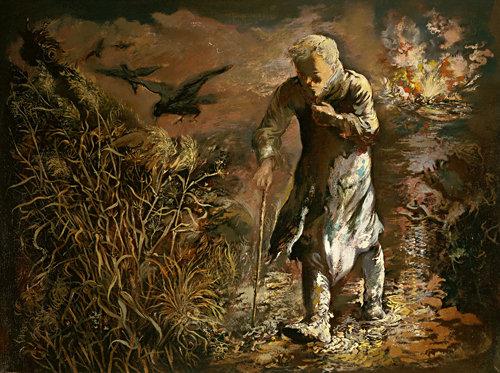 George Grosz , The Wanderer, 1934 z