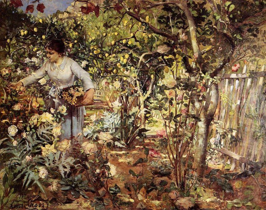 Henri Edmond Cross corner-of-the-garden-in-monaco