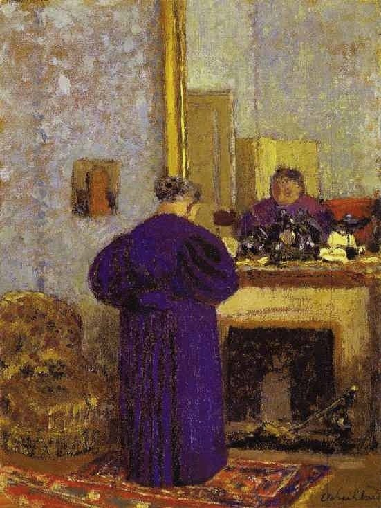 Jean Édouard Vuillard (French painter, 1868-1940) Old Woman in Front of the Fireplace 1895
