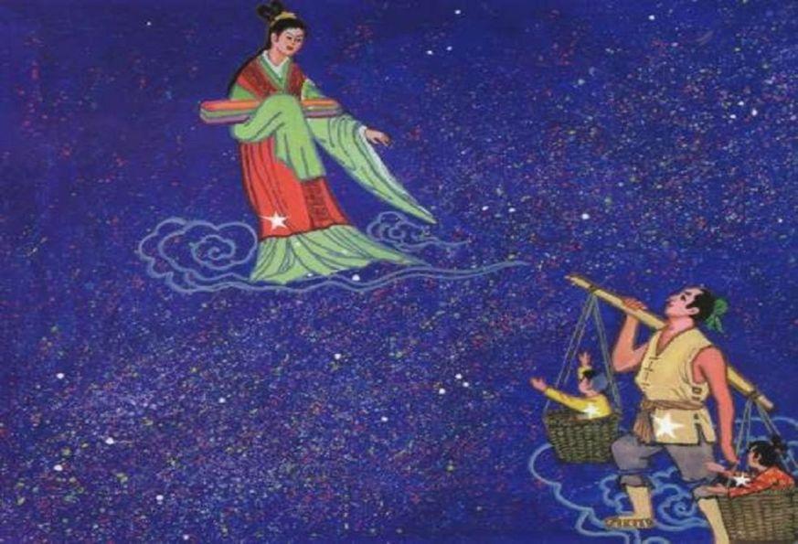 La Tisseuse et le Pâtre  Vega et Altaïr