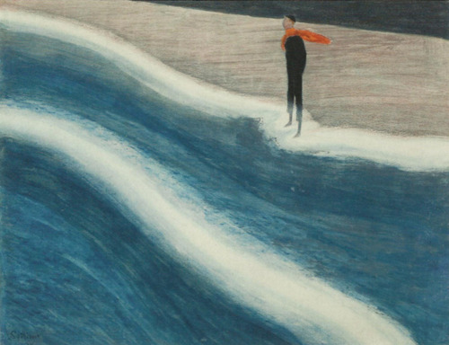 Leon Spilliaert-Young man with red scarf-1908
