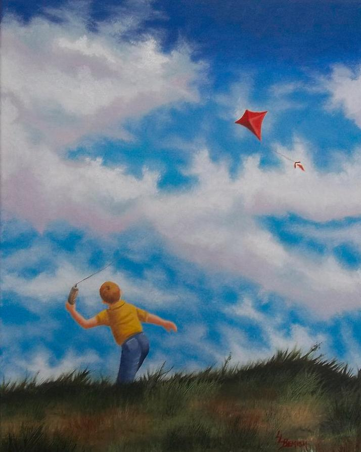 Lisa Lea Bemish  enfant au cerf-volant