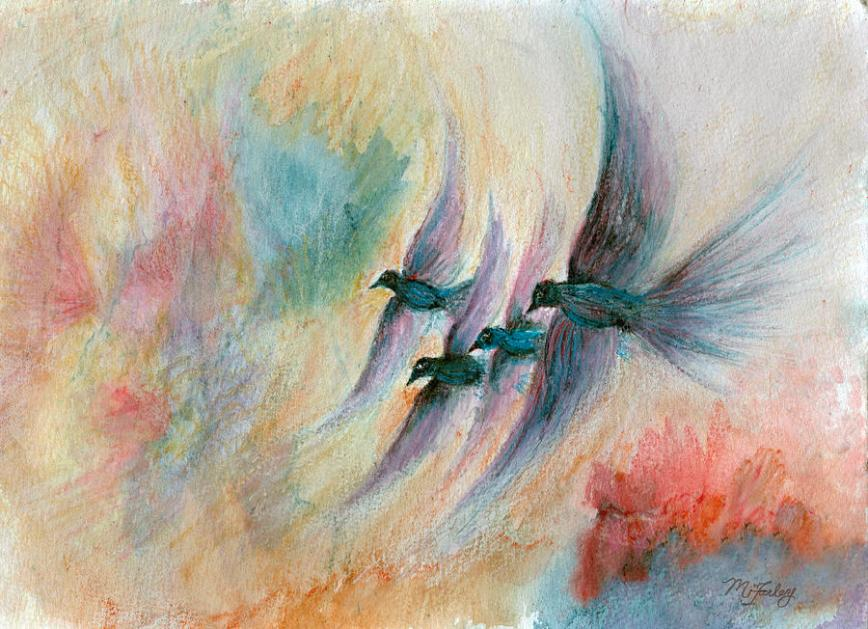 maureen-ida-farley  four-birds-flying-high-