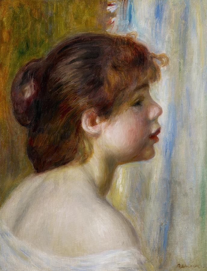 Pierre-Auguste Renoir    head-of-a-young-woman-