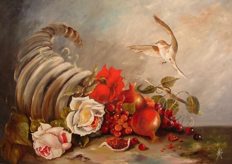 Virginie Stefani  hirondelle  et rose