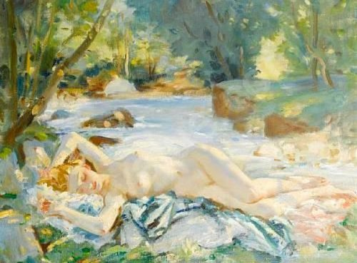 Wilfred Gabriel de Glehn the-nymph