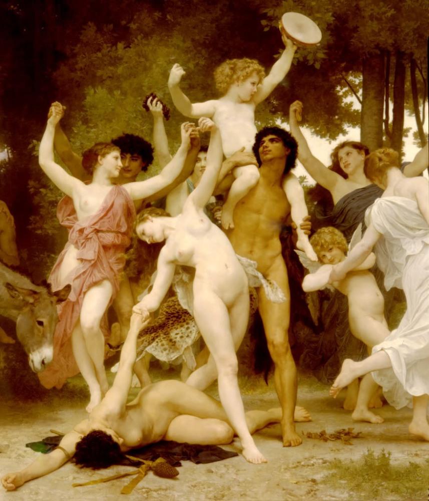 William Bouguereau La Jeunesse de Bacchus 1884 (Détail)-
