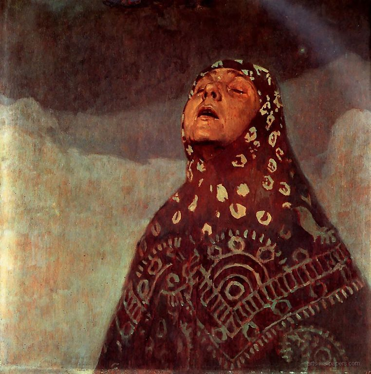 Alphonse Mucha Winter Night 1920 60x73cm [1280x768]