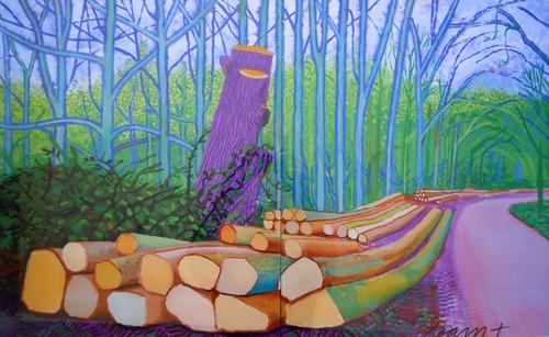 David Hockney _FELLED_TREES