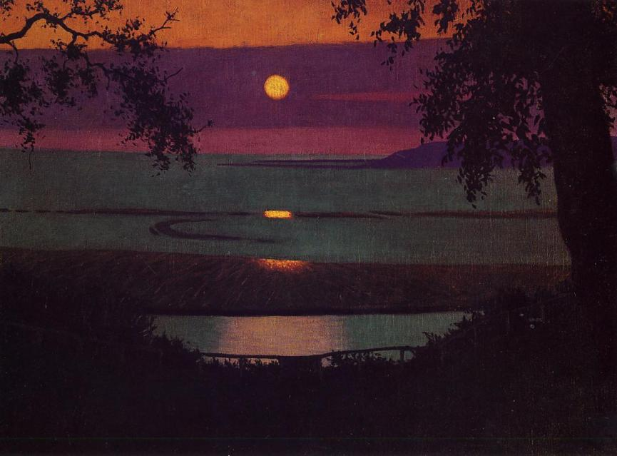 Félix Vallotton sunset-1918