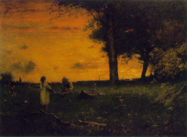 George Inness  _sunset