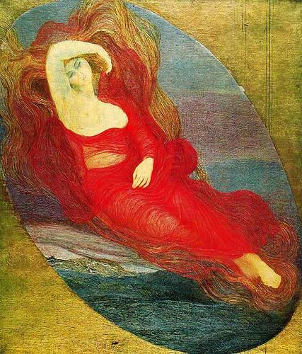 Giovanni Segantini Goddess of Love 1894 sacredfamiliar.com