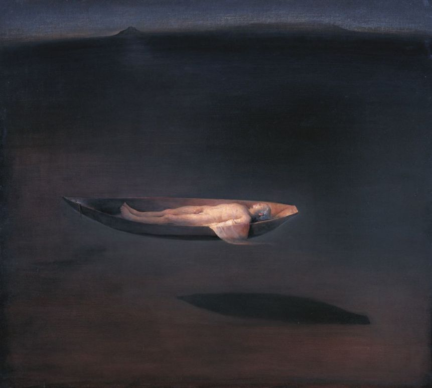 Odd Nerdrum  Man in a Boat [1280x768]