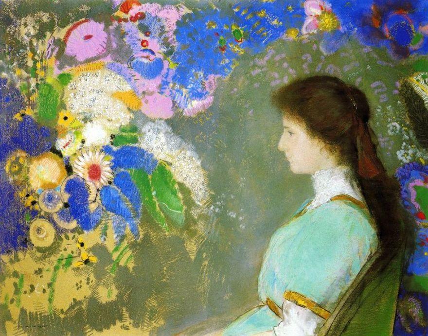 Odilon Redon  _portrait-de-la-veuve-domecy [1280x768]
