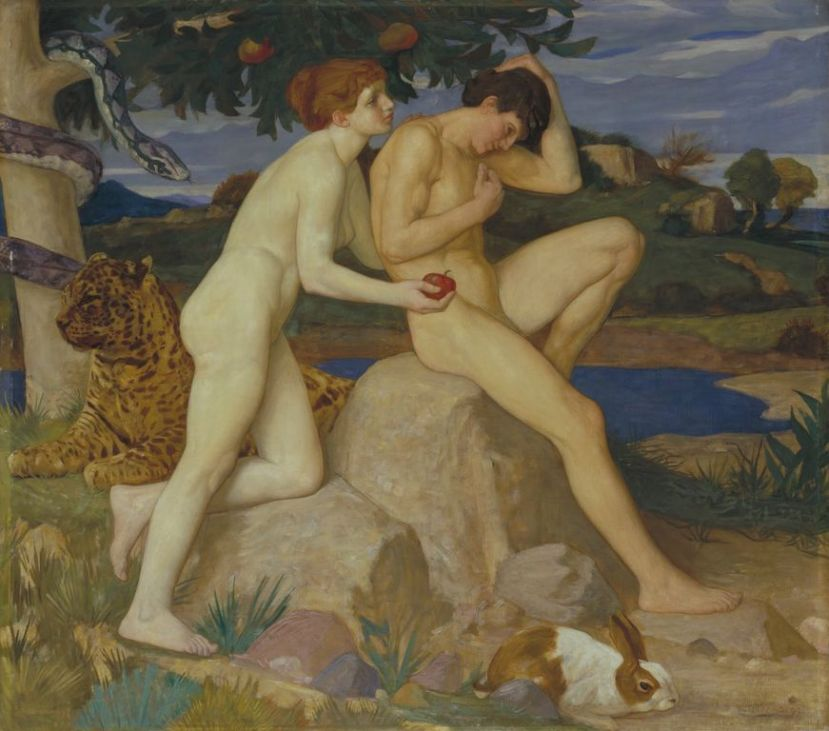 William Strang  The Temptation 1899 [1280x768]