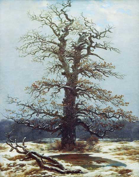 Caspar David Friedrich  chene_neige